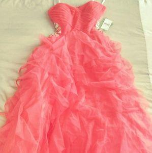 Masquerade pink prom dress